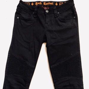 💙 Rock Revival Moto Skinny Jeans Size 27 Sheryl